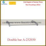 Sanitary Ware Bathroom Brass Fittings Brass Double Bar