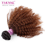 Afro Kinky Curly Brazilian Ombre Human Hair Extensions