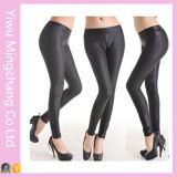 Plus Size Candy Color Women′s Leather Leggings
