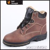 Rubber Outsole Heavy-Duty Safety Boot with Crazy Horse Leather (SN5184)