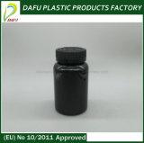 Pet 225ml Plastic Black Bottle with Child Proof Cap