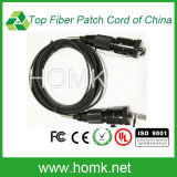 Hermaphroditic Wall-Mounted Connector for Tactical Fiber Optic Cable