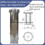 SS316 SS304 Stainless Steel Multi Cartridge Filter Housing/5 Micro Cartridge Water Filter Housing