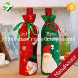 Santa Claus Red Wine Bottle Cover Bag Gift Bag for Christmas Decorations