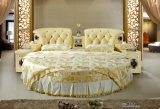 Fashion Design Home Furniture Italy Leather Round Bed Frame