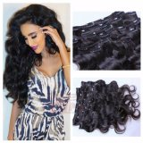 Unprocessed Virgin Brazilian Human Hair Clips in Extension for Women