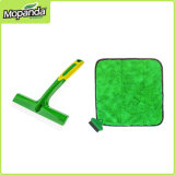 Window Cleaner Rubber Coated with Silicone Squeegee & Microfiber Ultra-Soft with Mini Corner Brush.