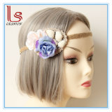 Bohemia Beach Shell and Flower Straw Lace Headbands