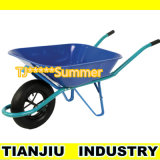 Powder Coating Construction Wheelbarrow Wb4017 with Pneumatic Wheel