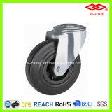 100mm Bolt Hole Black Rubber Industrial Castor Wheel (G101-31D100X30)