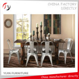 Metal Raw Silver Original Hotel Restaurant Dining Chair (TP-7)