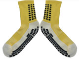 New Fashion Cotton Grid Style Team Sports Football Socks Anti Slip Soccer Socks