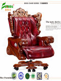 Swivel Leather Executive Office Chair with Solid Wood Foot (fy1301)
