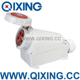 Cee 125A 5p Red Three Phase Industrial Wall Outlet (QX143)