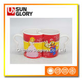 Cartoon Porcelain Couple Cups of Qlb024