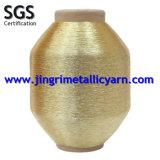 Pure Gold Metallic Yarn on Cotton