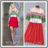 Spring Fashion Women Floral Printed Chiffon Dress