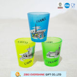 Promotional Colored Shot Glass with Foil Printing
