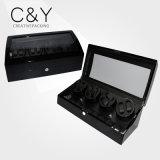 8+9 Luxury China Black Piano Wood Watch Winder