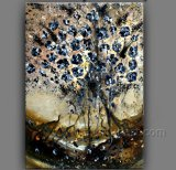 100% Handmade Oil Painting Flower on Canvas for Home Decoration (FL1-117)