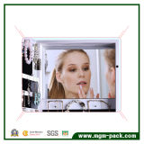 Wall Mounted Jewelry Mirror Storage Cabinet with Photo Frame