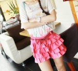 Women Fashion Apparel Cotton Medium Waist Mini Skirt