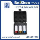 1/2-Inch Drive Metric Extra Wheel Protector 3PC Impact Socket Set