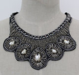 Lady Fashion Crystal Chunky Jewelry Necklace Choker Imitation Jewelry (JE0173)