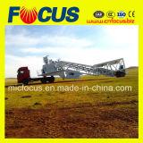 Good Condition Mobile Concrete Batching Plant, Trailer Movable Concrete Mixing Plant 50~60cbm/H