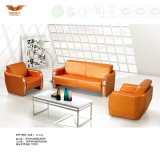 Modern Design Office Leather Sofa Covered with Metal Leg (HY-F1005)
