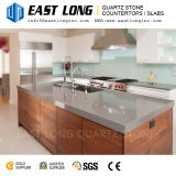 Hot Sale Fine Particle Grey Artificial Quartz Stone for Wall Panael/Countertops