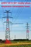Megatro 220kv 2e10 Sz1 Double Circuit Suspension Transmission Tower