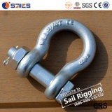 Forged Steel Us G2130 Safety Pin Galvanized Bow Shackle