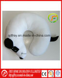 Plush White Dog Toy Neck Cushion Pillow