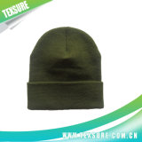 Customized Cuffed Knitted/Knit Hats for Promotion and Sport (037)