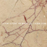 Polished Red Rose Marble Tile for Flooring and Wall