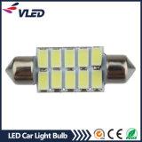 Car Canbus Festoon 12V 5630 10SMD 36mm LED Dome License Plate Reading LED Light Bulb