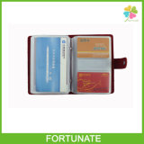 Leather Cover PVC Plastic Business Name Card Holder