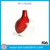 Red and White Modern Ceramic Vase