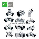 AISI 304 316 Stainless Steel 90 Degree Round Square Tube Elbow for Stair Handrail
