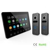 Memory 7 Inches Home Security Video Doorphone Interphone