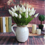 Artificial White Tulip Arrangements Silk Tulip Bouquets Wedding Stilk Tulip Magnolia Artificial Flower Tulip for Wholesale