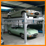 Double Deck 2 Post Hydraulic Garage Basement Car Parking Lift
