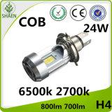 M4 H4 24W COB Motorcycle LED Car Light 6500K 2700K