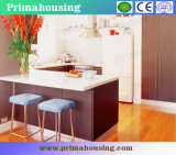 China Prima Laminate Kitchen Cabinet with New Design Prefab (PR-K2058)