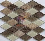 Light Emperador Marble Mix Cracked Ceramic Crystal Mosaic Tile for Decoration (CS252)