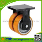 Heavy Duty Industrial Caster with Dual Wheels Twin Wheels Caster
