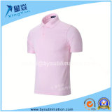Pink Quick-Dry Polo Tshirt for Sublimation