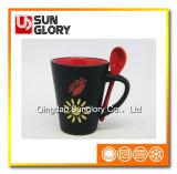 12oz Matt Glazed Porcelain Mug with Spoon of Chb005