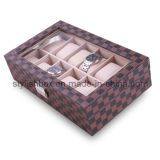12PCS Clear Window Watch Storage Box